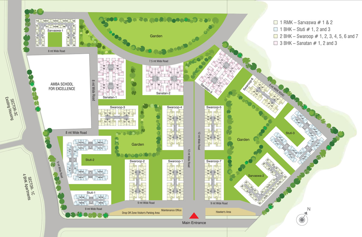 Welcome to amba township pvt ltd for Apartment site plan